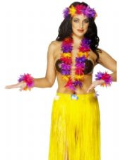 Hawaiian Flower Lei Set